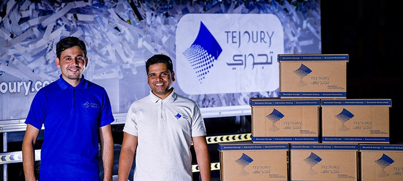 Tejoury collects files for shred purge project